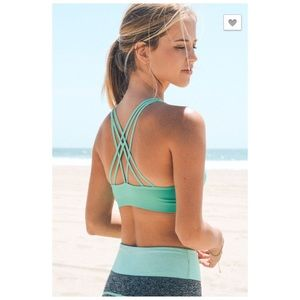 Other - Mint Strappy Back Sports Bra NEW